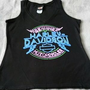 WOMAN'S HARLEY DAVIDSON V NECK TANK TOP